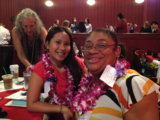Vivian Enos, my fellow panel speaker, and me at the Social Media Bootcamp