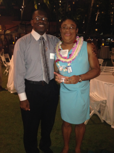 My husband and I at the Pacific Business News Women Who Mean Business Event