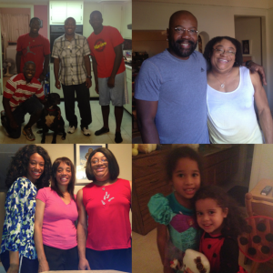 My brother-in-laws, my uncle, my sister and mom, and my 2 adorable nieces!